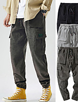 cheap -Men's Work Pants Hiking Cargo Pants Track Pants Drawstring Military Winter Summer Outdoor Windproof Ripstop Breathable Multi Pockets Bottoms Grey Black Coffee Camping / Hiking / Caving Traveling M L