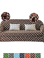 cheap -1 Set of 2 Pieces Vintage Geometric Printed Stretch Couch Covers Sofa Slipcover Protector Cover Include Individual Seat Cushion Cover for 1~4 Cushion Seater for Living Room Machine Washable