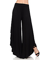 cheap -Women's Fashion Streetwear Comfort Chinos Casual Weekend Pants Plain Full Length Wide Leg Elastic Waist Blue Wine Gray Green Black