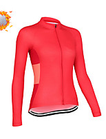 cheap -CAWANFLY Women's Long Sleeve Cycling Jersey Cycling Jacket Winter Red Geometic Bike Tracksuit Winter Jacket Top Thermal Warm Fleece Lining Sports Clothing Apparel / Micro-elastic / Athleisure