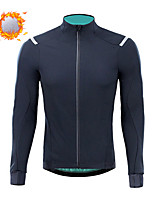 cheap -CAWANFLY Men's Long Sleeve Cycling Jersey Cycling Jacket Winter Black Geometic Bike Tracksuit Winter Jacket Top Thermal Warm Fleece Lining Sports Clothing Apparel / Micro-elastic / Athleisure
