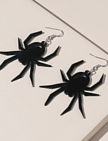 cheap -Women's Earrings Classic Spiders Simple Earrings Jewelry Black For Halloween 1 Pair