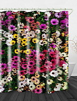 cheap -Beautiful flowers Printed Waterproof Fabric Shower Curtain Bathroom Home Decoration Covered Bathtub Curtain Lining Including hooks.