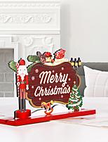 cheap -Wooden Christmas Ornaments Santa Claus Desktop Decoration Christmas Atmosphere Dress