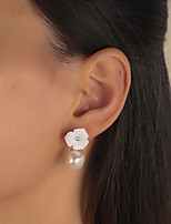 cheap -Women's Pearl Stud Earrings Chandelier Petal Vintage Modern Cute Sweet Earrings Jewelry White For Party Gift Daily Prom Club 1 Pair