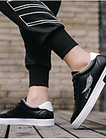 cheap -Men's Sneakers Lace up Comfort Shoes Business Casual Classic Daily Outdoor PU Waterproof Non-slipping Height-increasing Black and White Black Black / Blue Fall