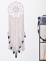 cheap -New turquoise hand-woven Dream catcher Nordic cotton woven home wall tapestry