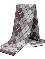 cheap -Men's Rectangle Scarf Daily As the Picture Scarf Color Block
