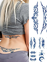 cheap -2 Pcs Juice Lasting Waterproof Temporary Tattoo Sticker Flower Chain Butterfly Ink Flash Tattoos Female Waist Sexy Body Art Fake Tatoo