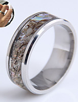cheap -Ring Silver Steel Shell Simple Fashion Trendy 1pc / Women's / Men's
