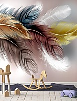 cheap -Mural Wallpaper Wall Sticker Custom Self-adhesive Feather PVC / Vinyl Suitable For Living Room Bedroom Restaurant Hotel Wall Decoration Art  Home Decor