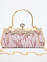 cheap -Women's Bags Polyester Evening Bag Chain Party / Evening Daily Retro Evening Bag Chain Bag Blushing Pink White Black