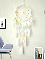 cheap -Creative White Angel Dream Catcher Tassel Dream catcher pendant home pendant feather dream catcher spot tapestry