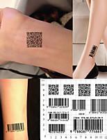 cheap -5 PCS Beauty Body Art Waterproof Temporary Tattoos Individuality 3D Barcode Design Tattoo Sticker Fake Tattoos Paste Makeup Accesories
