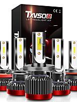 cheap -TXVSO8 G2R Super Bright Car Headlights H1 H4 H7 H11 LED Light Turbo Auto Bulb 80W 8000LM Headlamp 9005 9006 9012 COB White 6000K Car Light Bulbs 2pcs