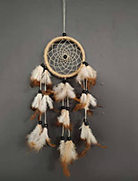 cheap -Creative handmade hemp rope wood bead dream catcher home dream catcher hanging decoration car feather pendant