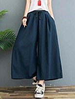 cheap -Women's Casual Outdoor Pants Casual Daily Pants Plain Full Length Pocket Wine Army Green Black Navy Blue Beige