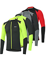 cheap -Men's Cycling Jacket Winter Bike Top Quick Dry Moisture Wicking Sports Patchwork Black / Red / Black / Green Clothing Apparel Bike Wear / Long Sleeve / Micro-elastic / Athleisure