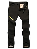 cheap -Men's Women's Convertible Pants / Zip Off Pants Fleece Lined Pants Hiking Pants Trousers Solid Color Winter Outdoor Standard Fit Thermal Warm Waterproof Windproof Detachable Fleece Fleece Below Knee