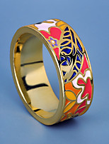 cheap -Women Ring Fancy Rainbow Brass Floral Theme Artistic Elegant Vintage 1pc / Women's