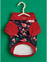 cheap -Dog Cat Sweatshirt Christmas Costume Santa Claus Classic Style Simple Style Christmas Winter Dog Clothes Puppy Clothes Dog Outfits Warm Red Costume for Girl and Boy Dog Flannel Fabric XS S M L XL
