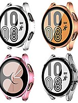 cheap -[4 pack] samsung galaxy watch 4 44mm screen protector case, soft slim tpu all around protective shell anti-scratch bumper cover case for samsung galaxy watch 4 accessories