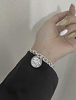 cheap -Women's Bracelet Coin Medal Korean S925 Sterling Silver Bracelet Jewelry Silver For Wedding