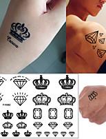 cheap -5 PCS Waterproof Temporary Tattoo Sticker Crown Type Olive Branch Stickers Fake Tatto Flash Tatoo Arm Leg Body Art for Men Women Kids