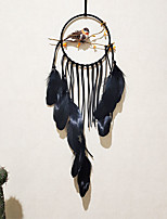 cheap -Lark dream catchers department of wind chimes hanging decorations bedroom to send boys indoor decoration black hanging woven tapestry