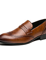 cheap -Men's Loafers & Slip-Ons Business Casual British Daily Office & Career PU Black Brown Fall Spring