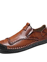 cheap -Men's Loafers & Slip-Ons Business Casual Vintage Daily Outdoor Leather Nappa Leather Light Brown Dark Brown Black Fall Summer