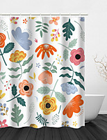 cheap -Plant Painting Series Design Drawing Bathroom Waterproof Shower Curtain with Hook Bathroom Home Decoration