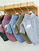 cheap -Dog Cat Sweater Sweatshirt Solid Colored Animal Dailywear Casual / Daily Winter Dog Clothes Puppy Clothes Dog Outfits Purple Light Green Gray Costume for Girl and Boy Dog Polyester XS S M L XL