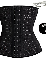 cheap -Women Shapewear Waist Cincher Ladies Corset Shaper Ribbon Body Building Front Buckle Three Breasted Dropship Support
