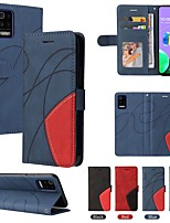 cheap -Phone Case For LG Full Body Case LG K40 LG K10 2018 LG K10 (2017) LG K8 K92 5G LG K50 K50S LG K61 LG K51 K8 2018 / K9 Card Holder Shockproof Dustproof Solid Colored PU Leather