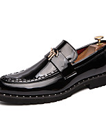cheap -Men's Loafers & Slip-Ons Casual Classic British Daily Office & Career Patent Leather Black / Gold Black Fall Spring