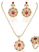 cheap -Women's Cubic Zirconia Bridal Jewelry Sets Geometrical Flower Fashion Earrings Jewelry Gold For Party Gift Daily Festival 1 set