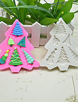 cheap -diy baking tools 6-hole christmas tree shape fondant cake cream chocolate biscuit mold silicone mold