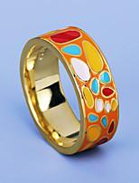 cheap -Women Ring Geometrical Orange Brass Joy Artistic Fashion European 1pc / Women's / Party / Gift
