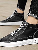 cheap -Men's Sneakers Vintage British Daily Outdoor Leather White Black Beige Fall Spring