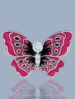 cheap -Women Ring AAA Cubic Zirconia Fancy Pink Brass Butterfly Fashion European Lolita 1pc / Women's