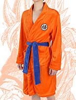 cheap -Adults' Kigurumi Pajamas Bathrobe Nightwear Cartoon Onesie Pajamas Flannelette Orange Cosplay For Men and Women Animal Sleepwear Cartoon Festival / Holiday Costumes / Bath Robe