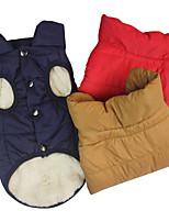 cheap -cross-border autumn and winter pet dog clothes dog clothes pet clothing padded coat coat big dog large dog vest