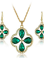cheap -Women's Crystal Bridal Jewelry Sets Geometrical Flower Fashion Earrings Jewelry Gold For Party Gift Daily Festival 1 set