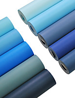 cheap -Wallpaper Wall Covering Sticker Film Embossed Blue Non Woven Home Decor 53*950cm