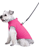 cheap -european and american pet clothing clothes autumn and winter polar fleece solid color zipper sweater small and medium pet vest dog clothes