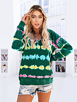 cheap -Women's Hoodie Tie Dye Hoodie Spandex Sport Athleisure Top Long Sleeve Moisture Wicking Breathable Soft Comfortable Everyday Use Casual Daily Outdoor Exercising / Winter