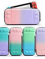 cheap -Carry Case for Nintendo Switch Portable Protection With Game Card Slots Color Gradient PU Leather EVA For Casual Outdoor Indoor Everyday Use Portable