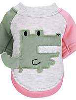cheap -Dog Cat Sweatshirt Color Block Animal Adorable Cute Dailywear Casual / Daily Winter Dog Clothes Puppy Clothes Dog Outfits Light Yellow Pink and Green Red / Green Costume for Girl and Boy Dog Cotton