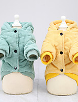 cheap -dog clothes autumn and winter clothes new cotton coat teddy small dog pet clothing winter 21 corduroy two-leg cotton coat